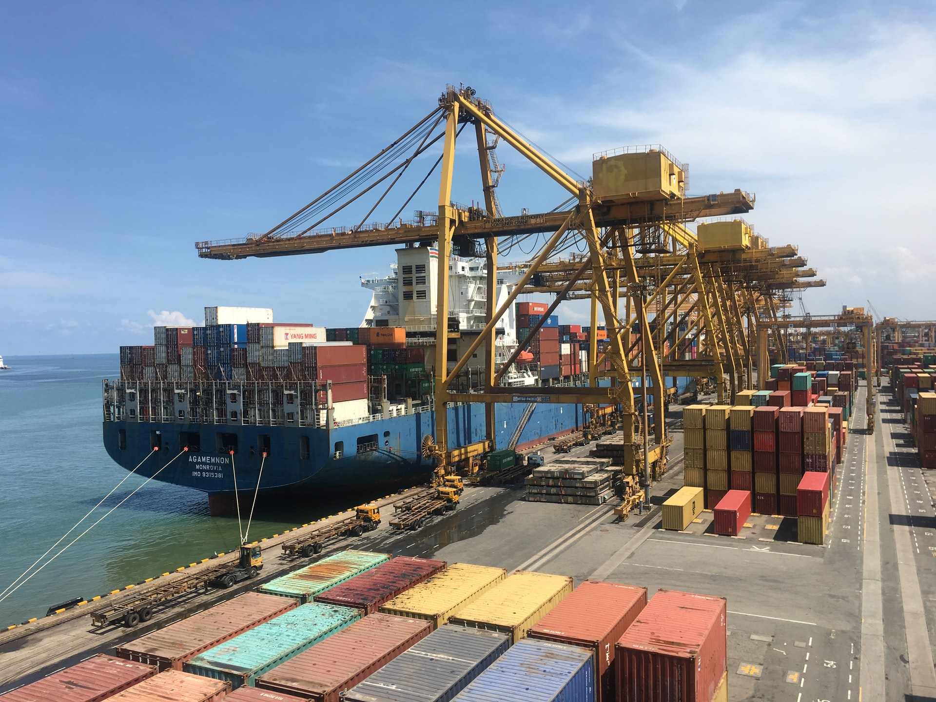Loading of Container ship